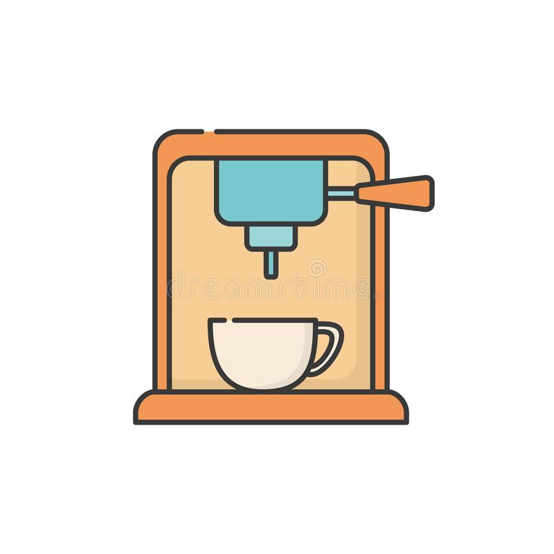 Isolated coffee machine icon fill design royalty free illustration