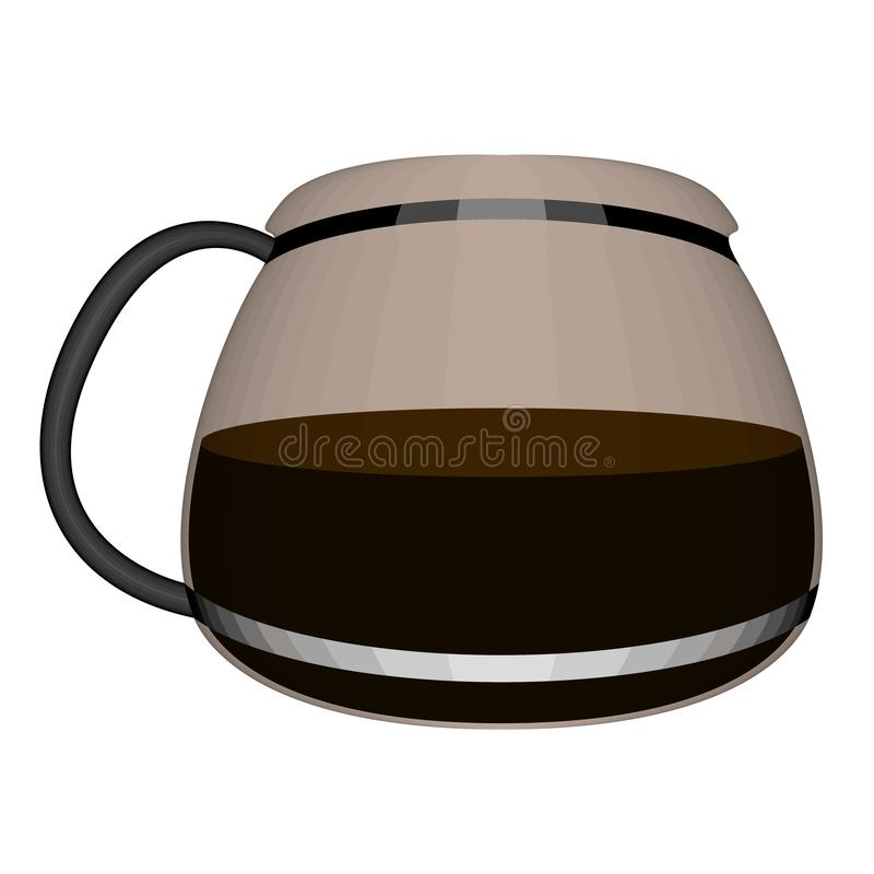 Isolated coffee maker glass jug image. Vector royalty free illustration