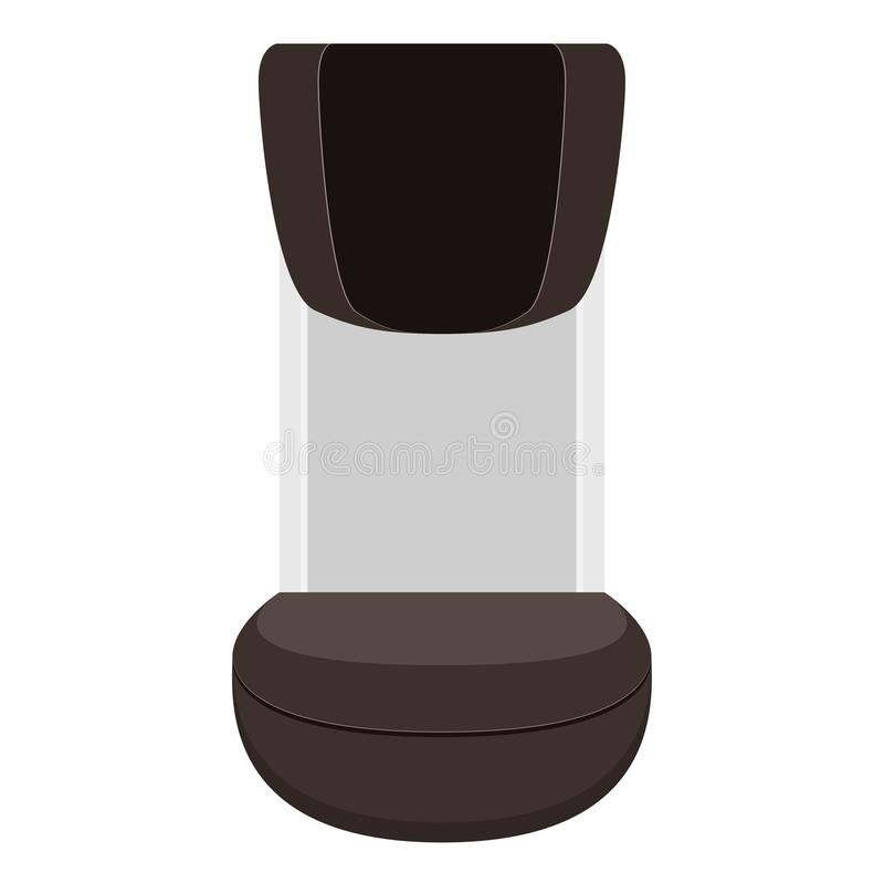 Isolated coffee maker glass jug image. Vector stock illustration
