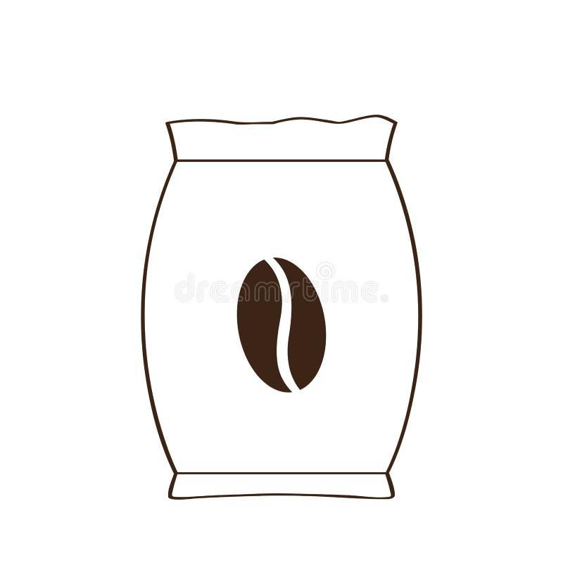 Isolated coffee sack icon. Vector illustration design stock illustration