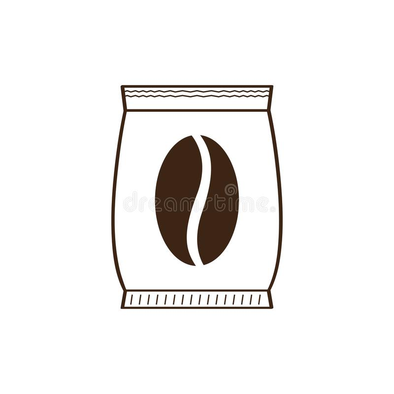 Isolated coffee sack icon. Vector illustration design vector illustration