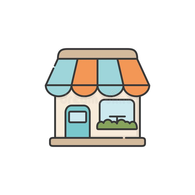 Isolated coffee store icon fill design stock illustration
