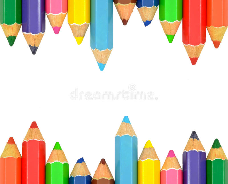 Isolated Color Pencil Frame stock photo