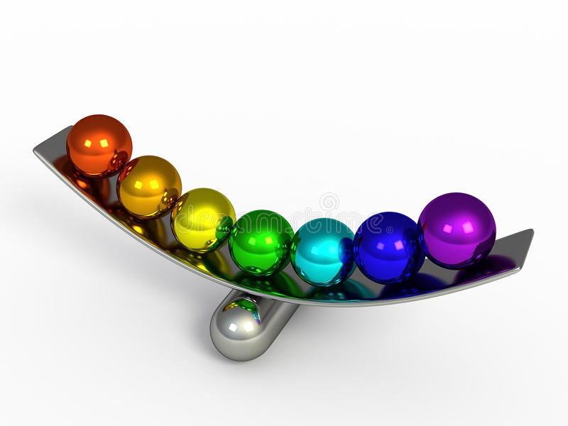 Isolated color spheres 3d render vector illustration