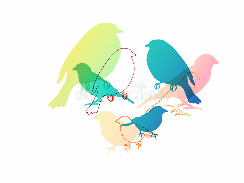 Download Isolated Colorful Birds Illustration Stock Illustration - Image: 6126049