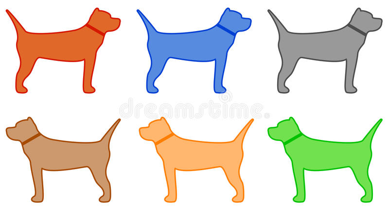 Download Isolated Colorful Pit Bull Terrier Royalty Free Stock Photography - Image: 32803997