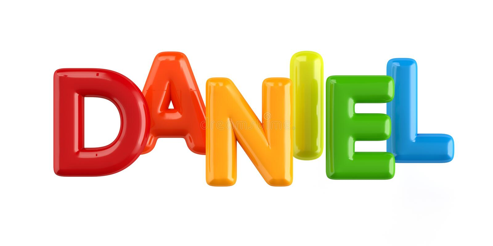 Isolated colorfull 3d Kid Name balloon font Daniel. Colorfull 3d Kid Name balloon font Louis on white background stock illustration