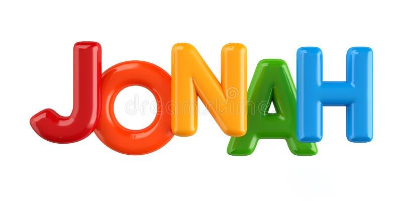 Isolated colorfull 3d Kid Name balloon font Jonah vector illustration