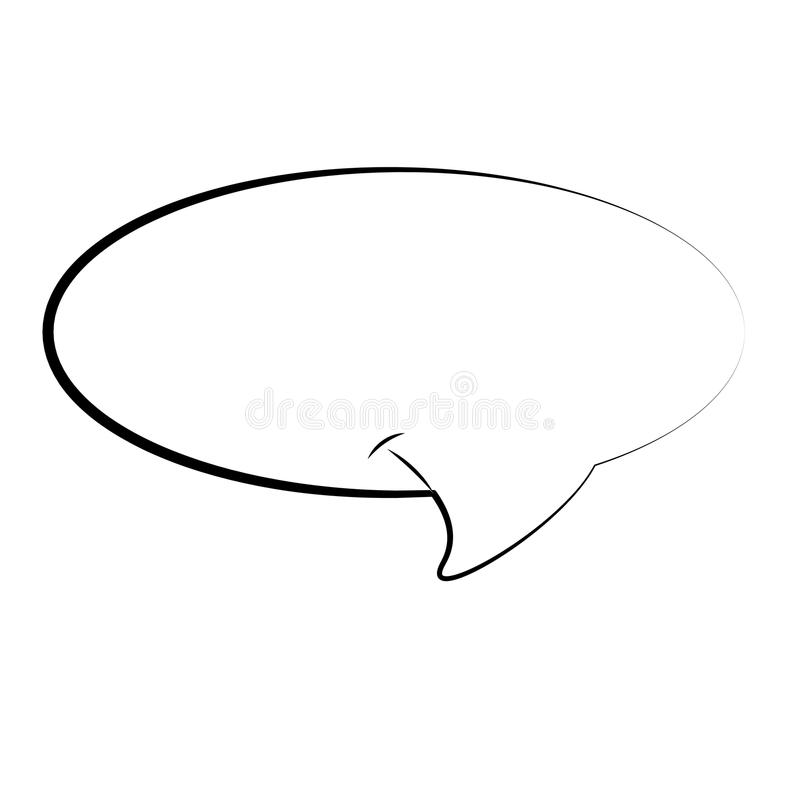 Isolated comic speech bubble. On a white background, Vector illustration stock illustration