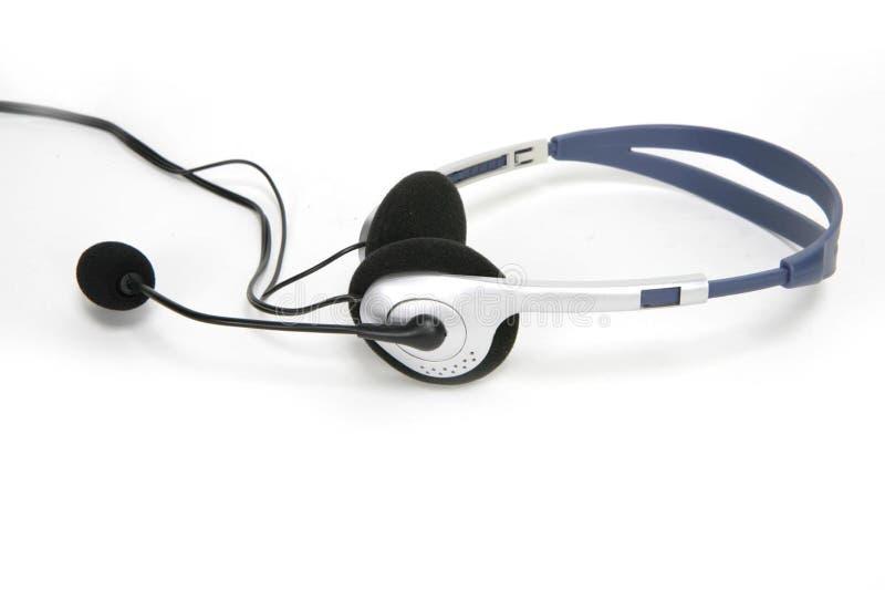 Isolated communications headset royalty free stock photo