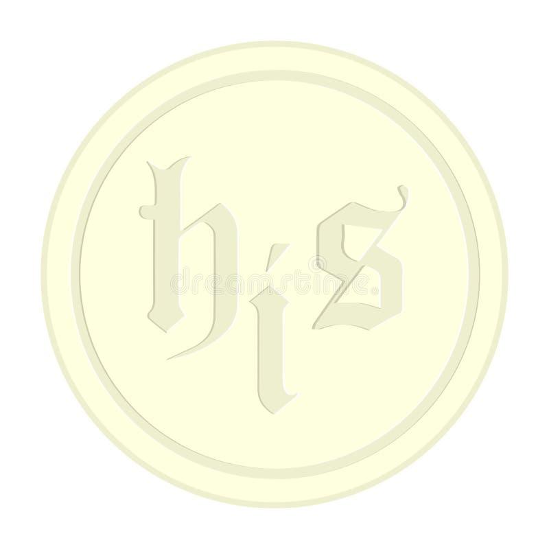 Isolated communion host. Image. Vector illustration design royalty free illustration