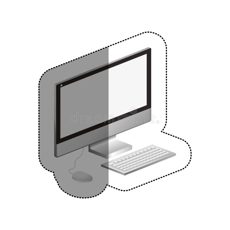 Isolated computer device design. Computer icon. Device gadget technology and electronic theme. Isolated design. Vector illustration stock illustration