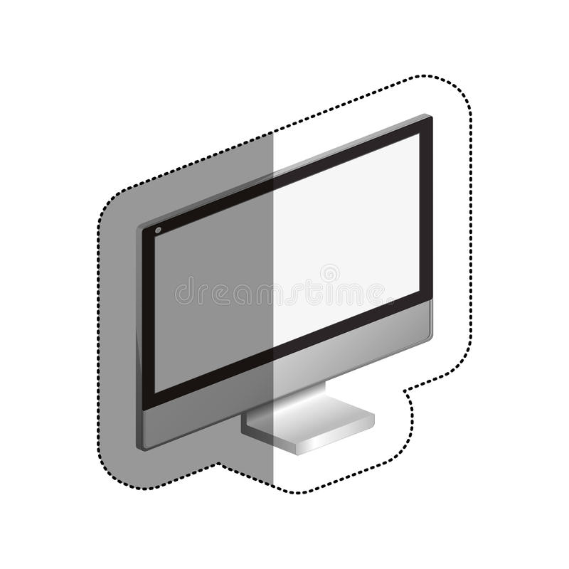 Isolated computer device design. Computer icon. Device gadget technology and electronic theme. Isolated design. Vector illustration vector illustration