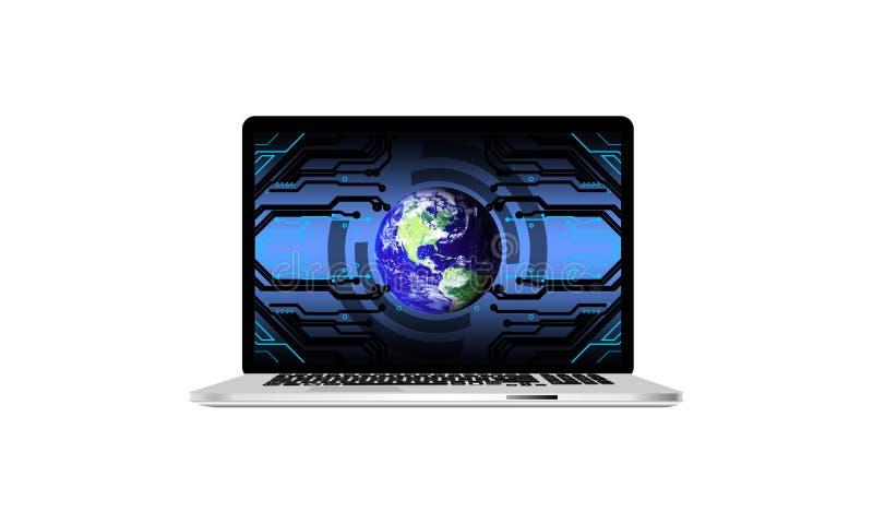 Isolated computer laptop. technology communication. vector illustration