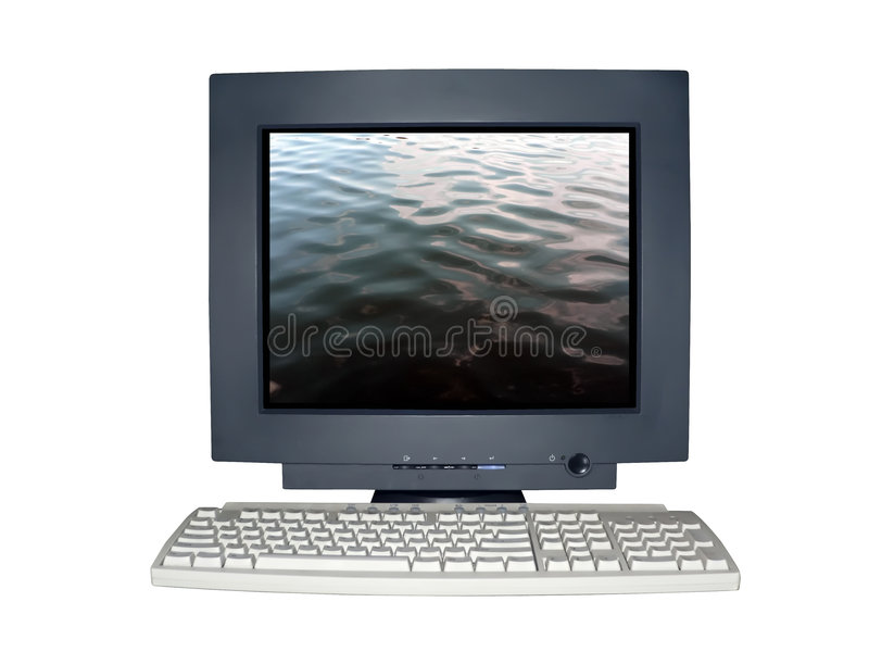Download Isolated Computer Monitor With Solitude Concept Stock Photo - Image: 2020592