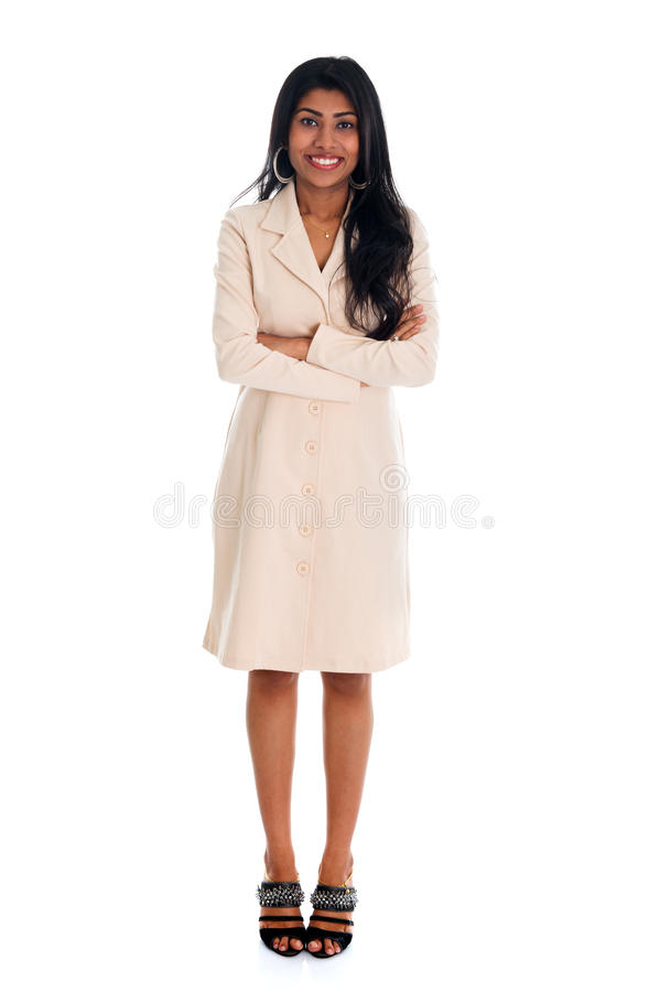 Isolated confident Indian businesswoman royalty free stock photos