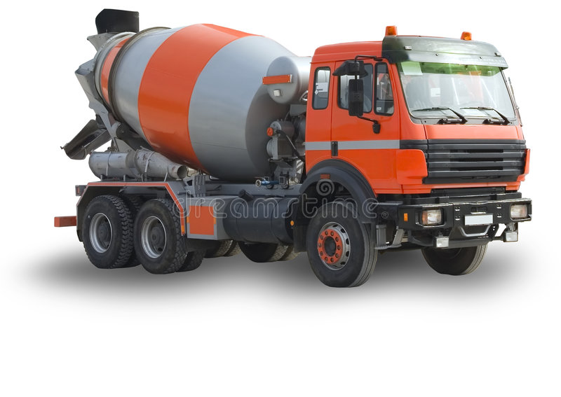 Isolated construction mixer stock photo