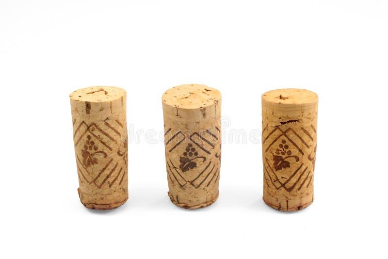 Isolated corks stock photo