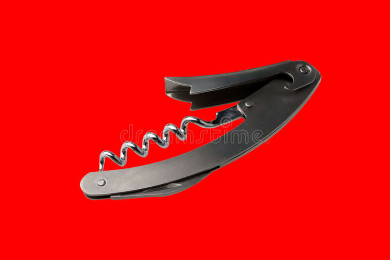 Download Isolated corkscrew stock photo. Image of metallic, isolated - 1748994