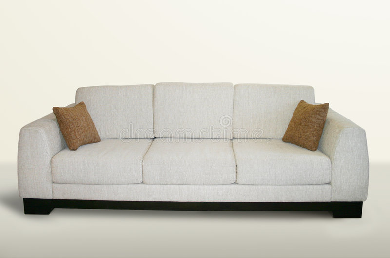 Download Isolated couch stock image. Image of beige, pillows, sofa - 118673
