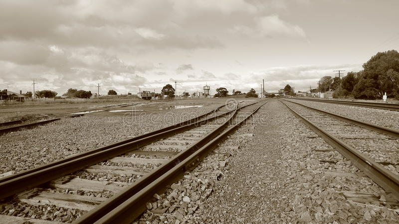 Quiet country railway station royalty free stock images