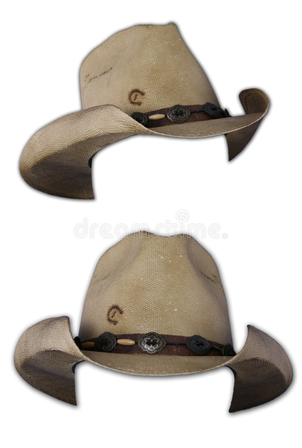 Isolated Cowboy Hats stock photography
