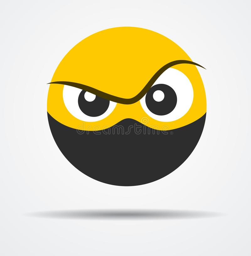 Isolated Criminal emoticon in a flat design. vector illustration