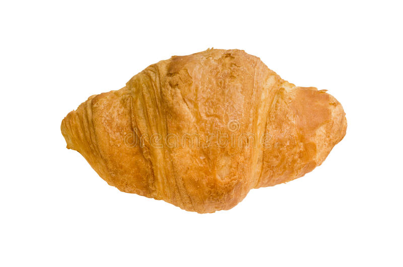 Isolated croissant royalty free stock photos