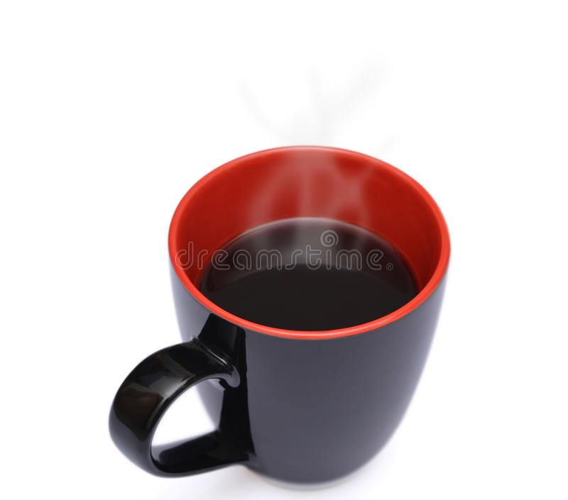 Isolated Cup of hot Coffee with Steam Isolated. On White royalty free stock images