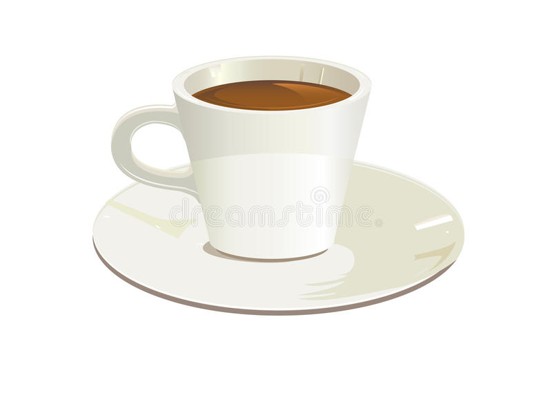 Download Isolated cup stock vector. Image of porcelain, saucer - 32222878