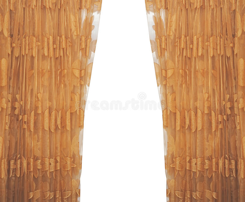 Download Isolated curtain stock image. Image of brown, blind, gold - 23074609