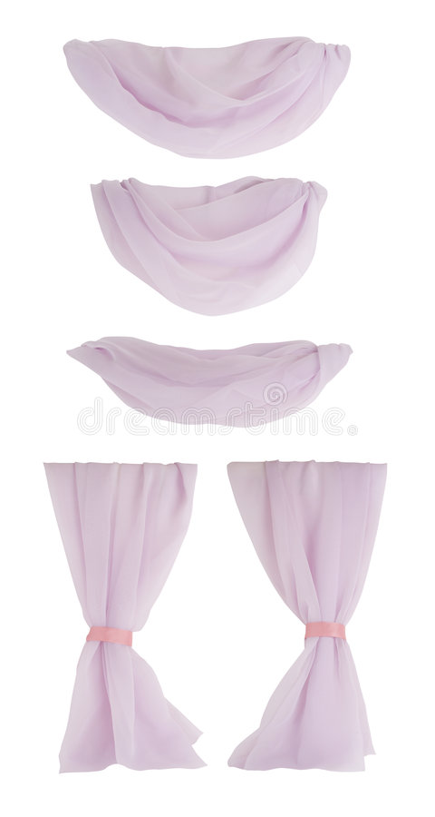 Isolated Curtain Components royalty free stock photo