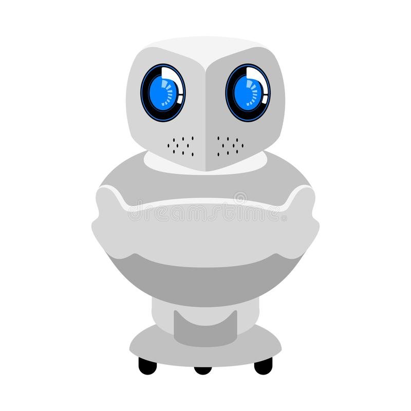Isolated cute android icon stock illustration