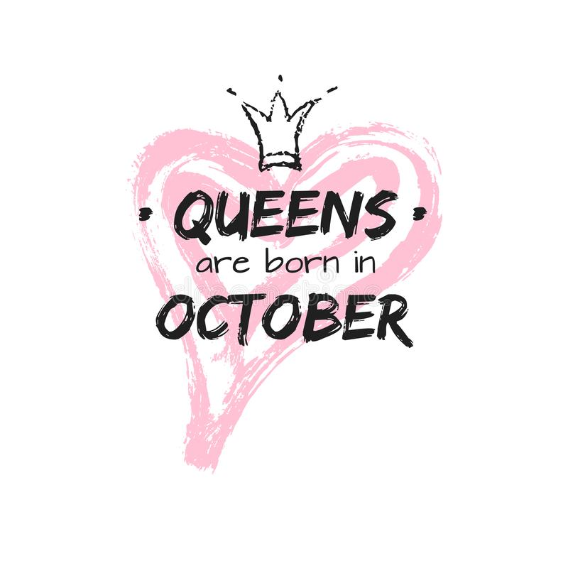 Isolated Cute Phrase Queens Are Born Stock Image - Image of cute, clothing:  163201791