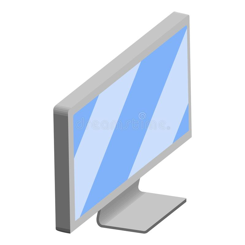 Isolated 3d monitor screen. Vector illustration design royalty free illustration