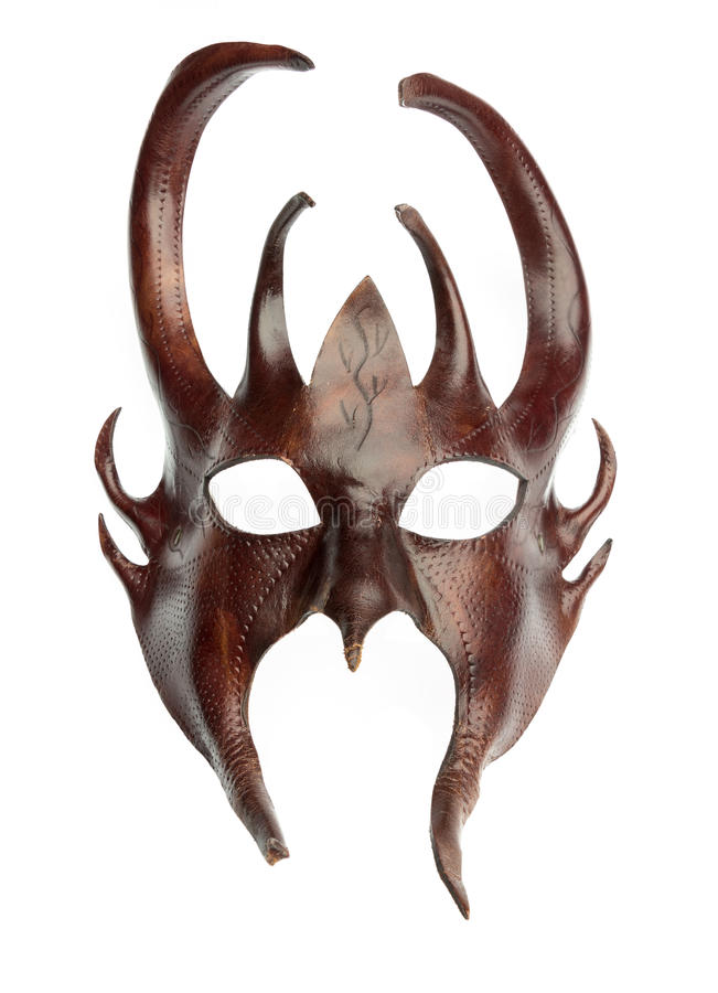 Isolated davil mask royalty free stock photography