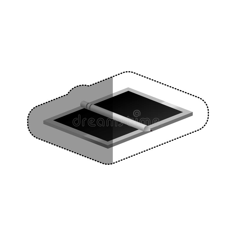 Isolated design table device. Design table icon. Device gadget technology and electronic theme. Isolated design. Vector illustration royalty free illustration