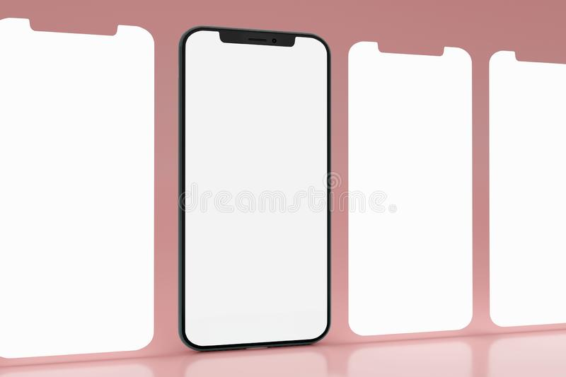 Isolated Devices Mockup vector illustration