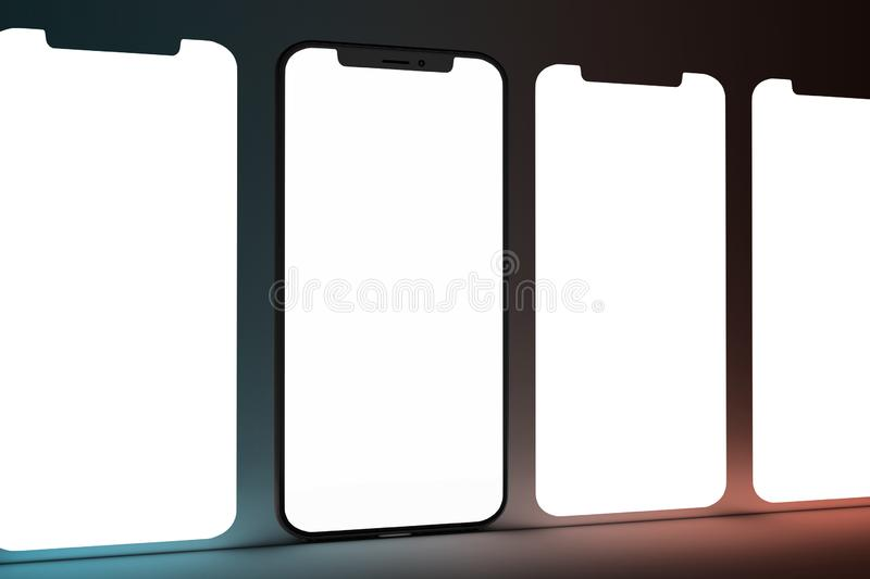 Isolated Devices Mockup. View of a Isolated Devices Mockup vector illustration