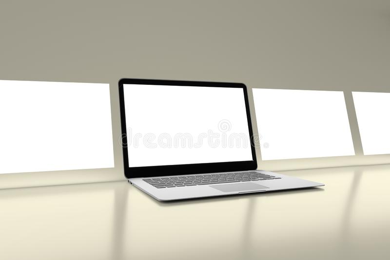 Isolated Devices Mockup. View of a Isolated Devices Mockup royalty free illustration