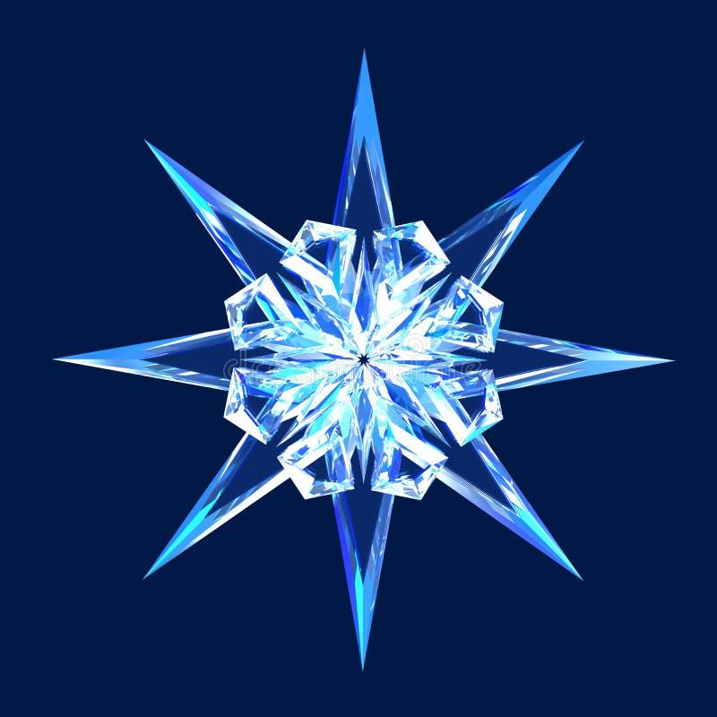 Isolated diamond star stock illustration