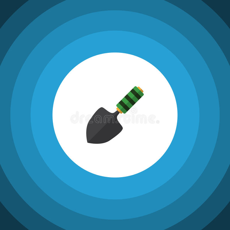 Isolated Dig Flat Icon. Trowel Vector Element Can Be Used For Spatula, Trowel, Shovel Design Concept. Trowel Vector Element Can Be Used For Spatula, Trowel royalty free illustration