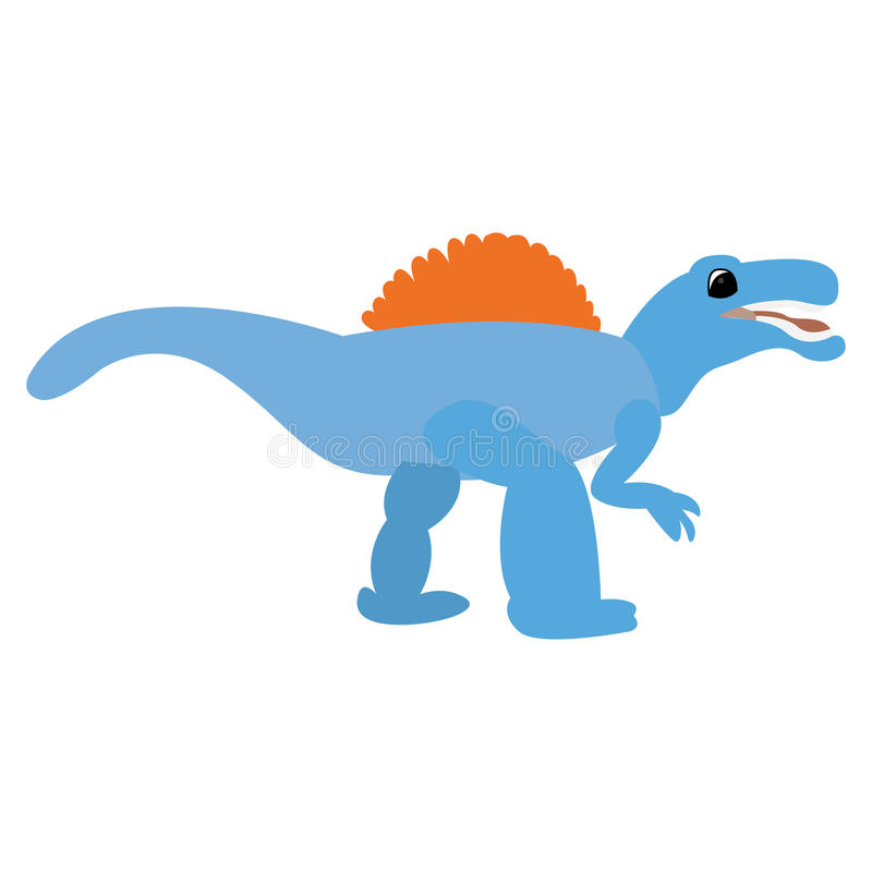 Isolated dinosaur toy. On a white background, Vector illustration vector illustration