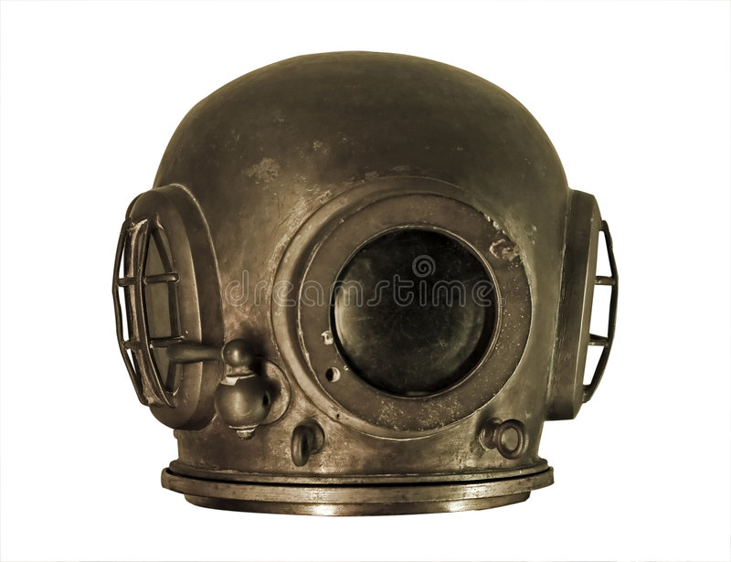 Download Isolated diving helmet stock image. Image of suit, danger - 3170313