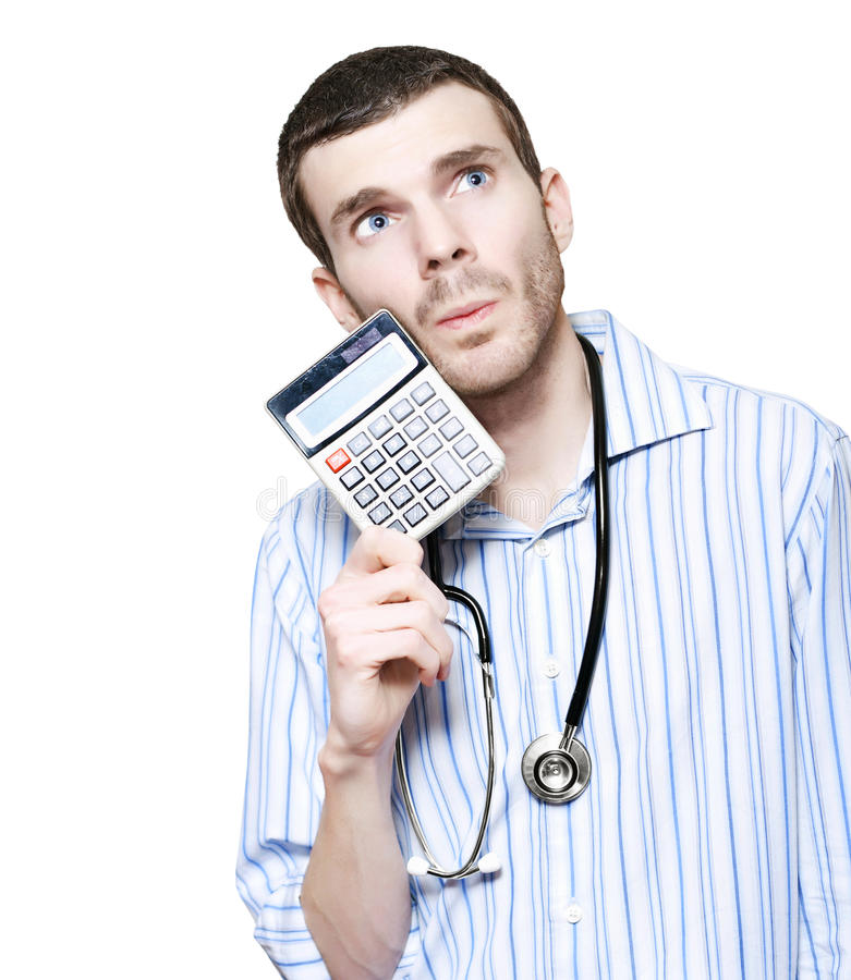 Download Isolated Doctor Counting Financial Cost Of Health Royalty Free Stock Photo - Image: 27334845