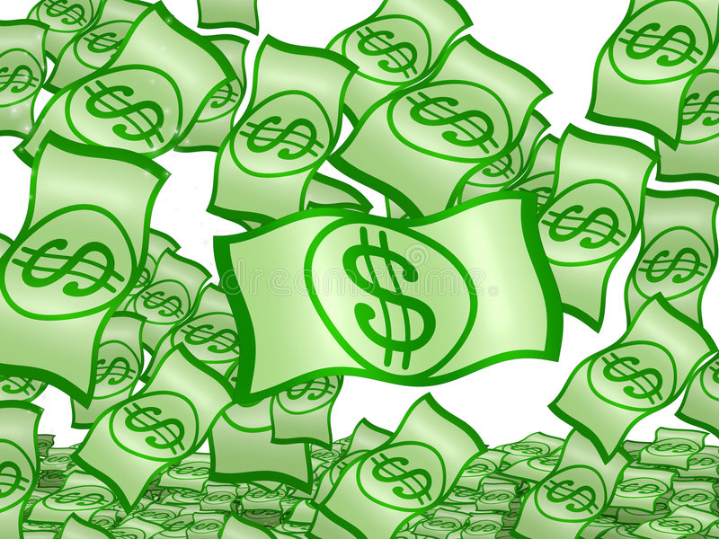 Download Isolated Dollars fall stock illustration. Image of falling - 6374314