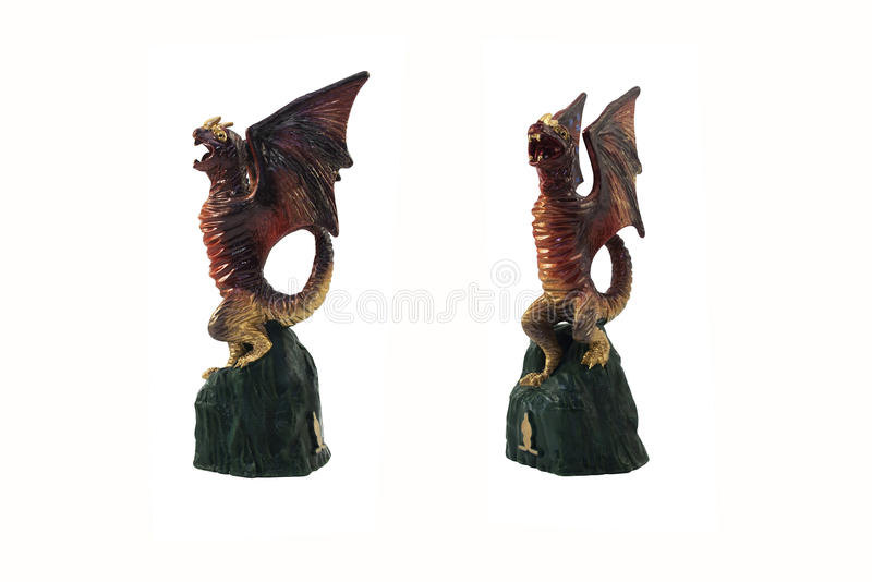 Isolated dragon toy photo. royalty free stock photography
