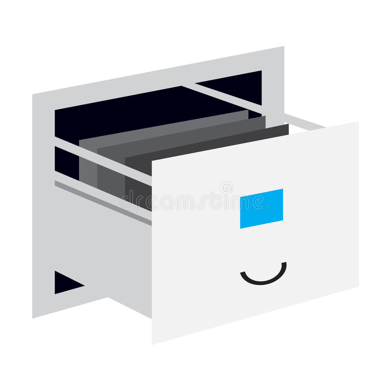 Isolated drawer icon. Isolated open drawer on a white background, Vector illustration vector illustration
