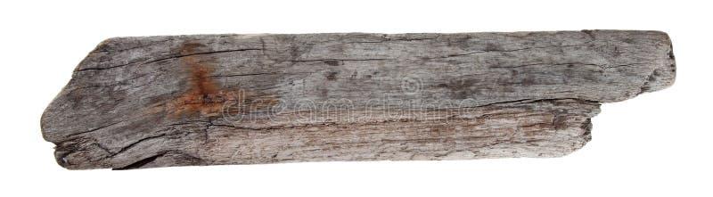 Isolated driftwood. Driftwood isolated object on white stock image
