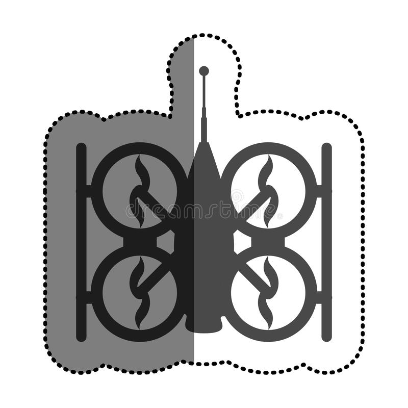 Isolated drone design. Drone icon. Technology remote aircraft uav spy and robot theme. Isolated design. Vector illustration royalty free illustration